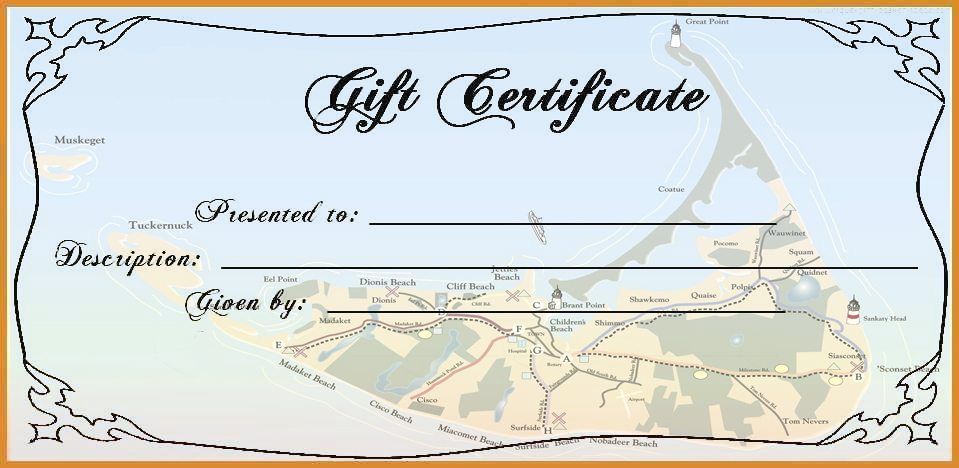 Gift Certificate, Best of Nantucket | Nantucket, MA